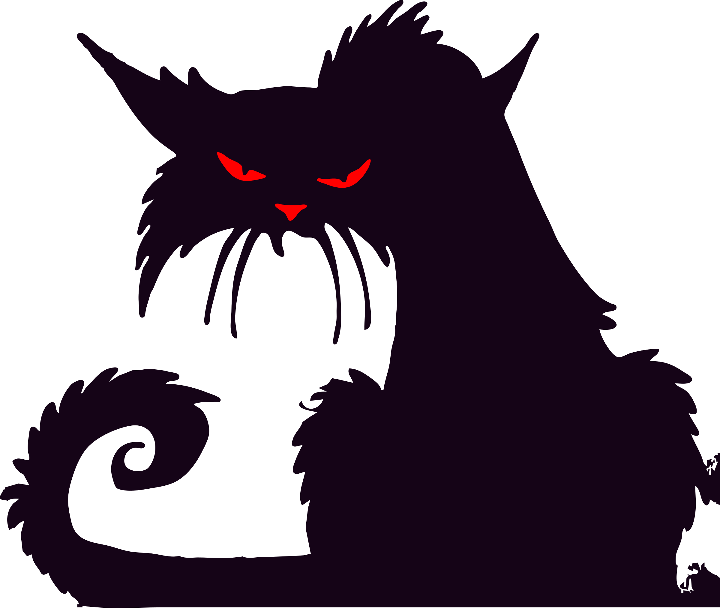 Angry cat clipart clipart black and white stock 28+ Collection of Angry Cat Clipart | High quality, free cliparts ... clipart black and white stock