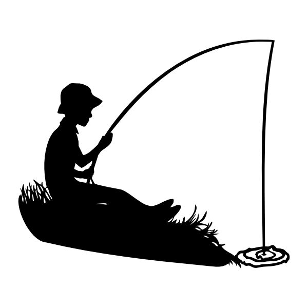 Black and white fisherman clipart no watermark clip art transparent Fishing Clipart Black And White | Free download best Fishing Clipart ... clip art transparent