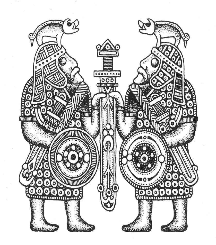Anglo saxon warrior clipart png freeuse stock Saxon warrior carving. A number of helmet finds have featured ... png freeuse stock