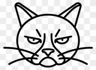 Angry animal eye clipart simple freeuse download Drawn Grumpy Cat Angry - Grumpy Cat Easy Drawing Clipart - Full Size ... freeuse download