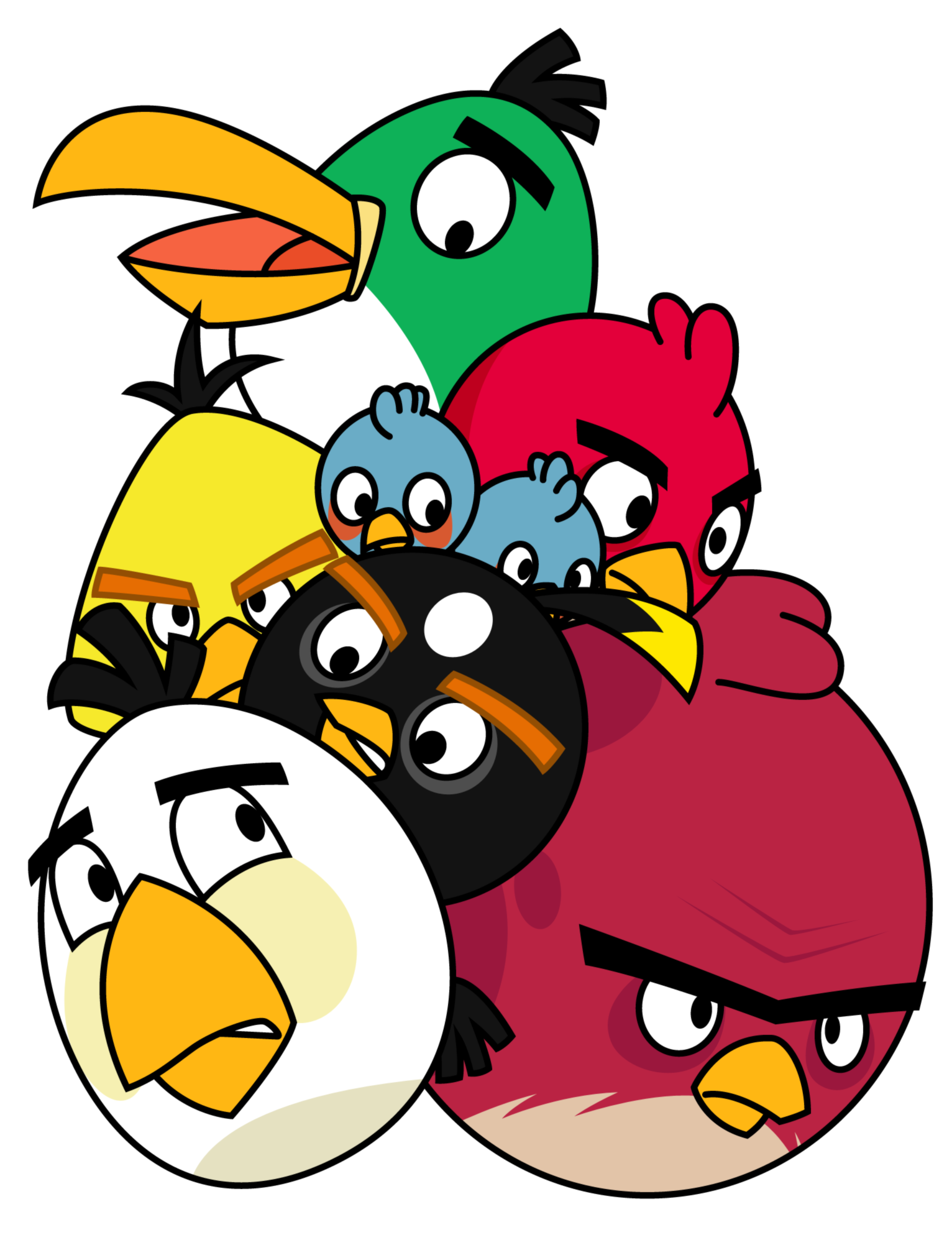 Craftsman house clipart clipart black and white Pile of Angry Birds by Gav-Imp.deviantart.com | Angry Birds ... clipart black and white