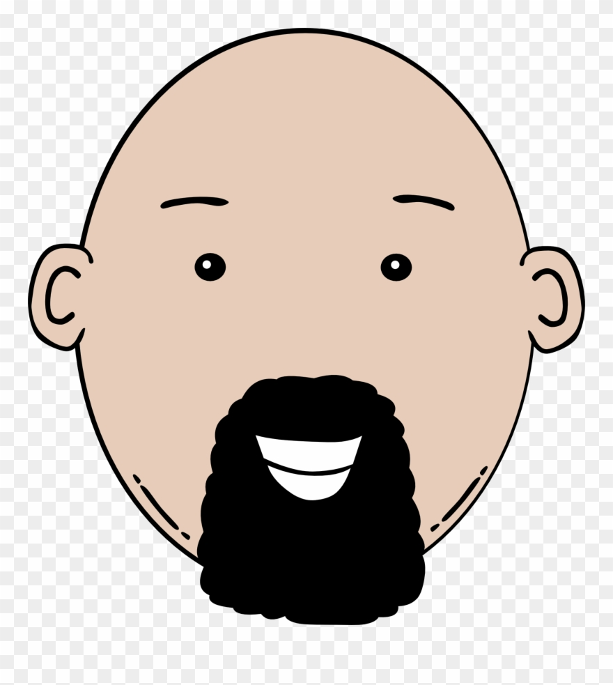 Bald clipart freeuse stock Man Face Cartoon Clip Art - Bald Man With Beard Clipart - Png ... freeuse stock