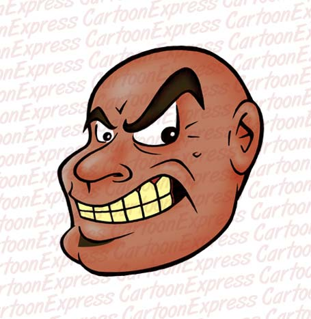 Angry bald guy clipart clipart royalty free download vector cartoon illustration of a mean black bald guy clipart royalty free download