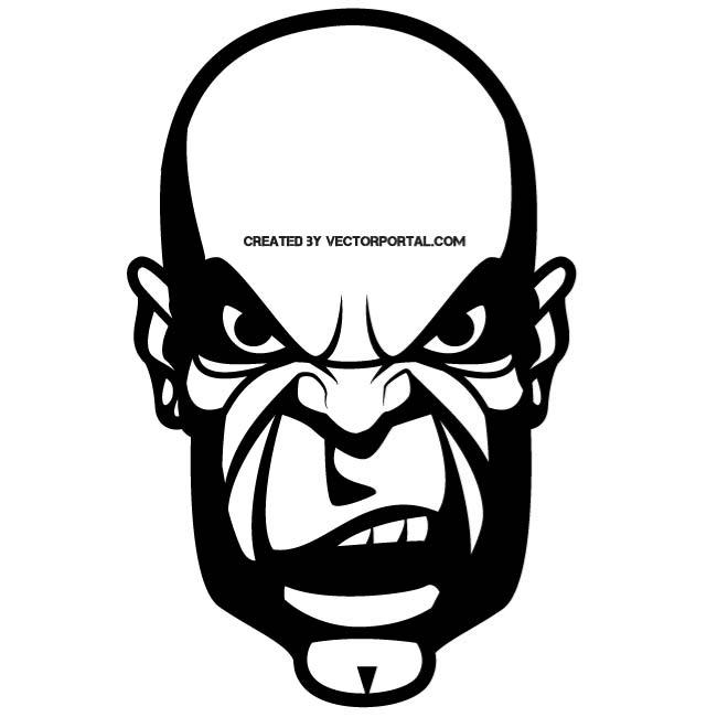 Angry bald guy clipart svg download ANGRY FACE - Free vector image in AI and EPS format. svg download