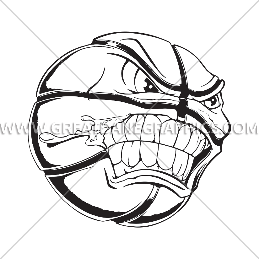 Angry basketball clipart picture library Basketball Angry Ball | Production Ready Artwork for T-Shirt Printing picture library