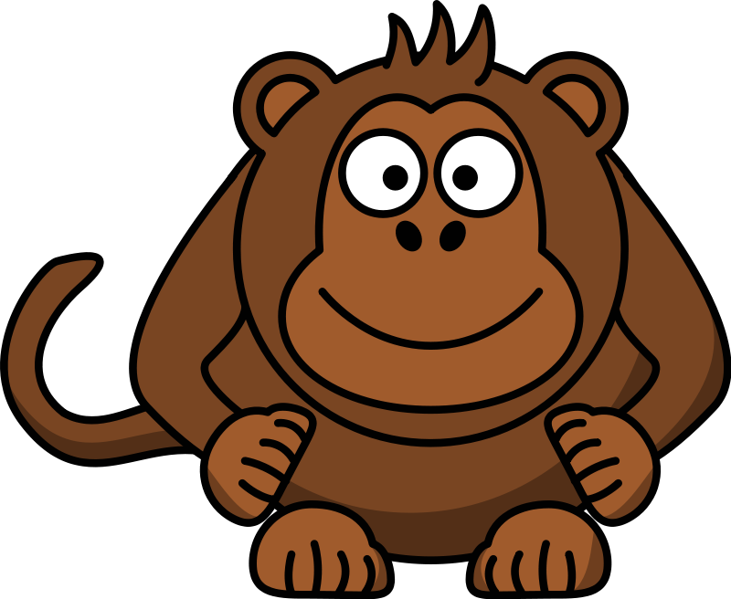 Monkey hanging from tree clipart vector transparent stock Sad clipart gorilla ~ Frames ~ Illustrations ~ HD images ~ Photo ... vector transparent stock