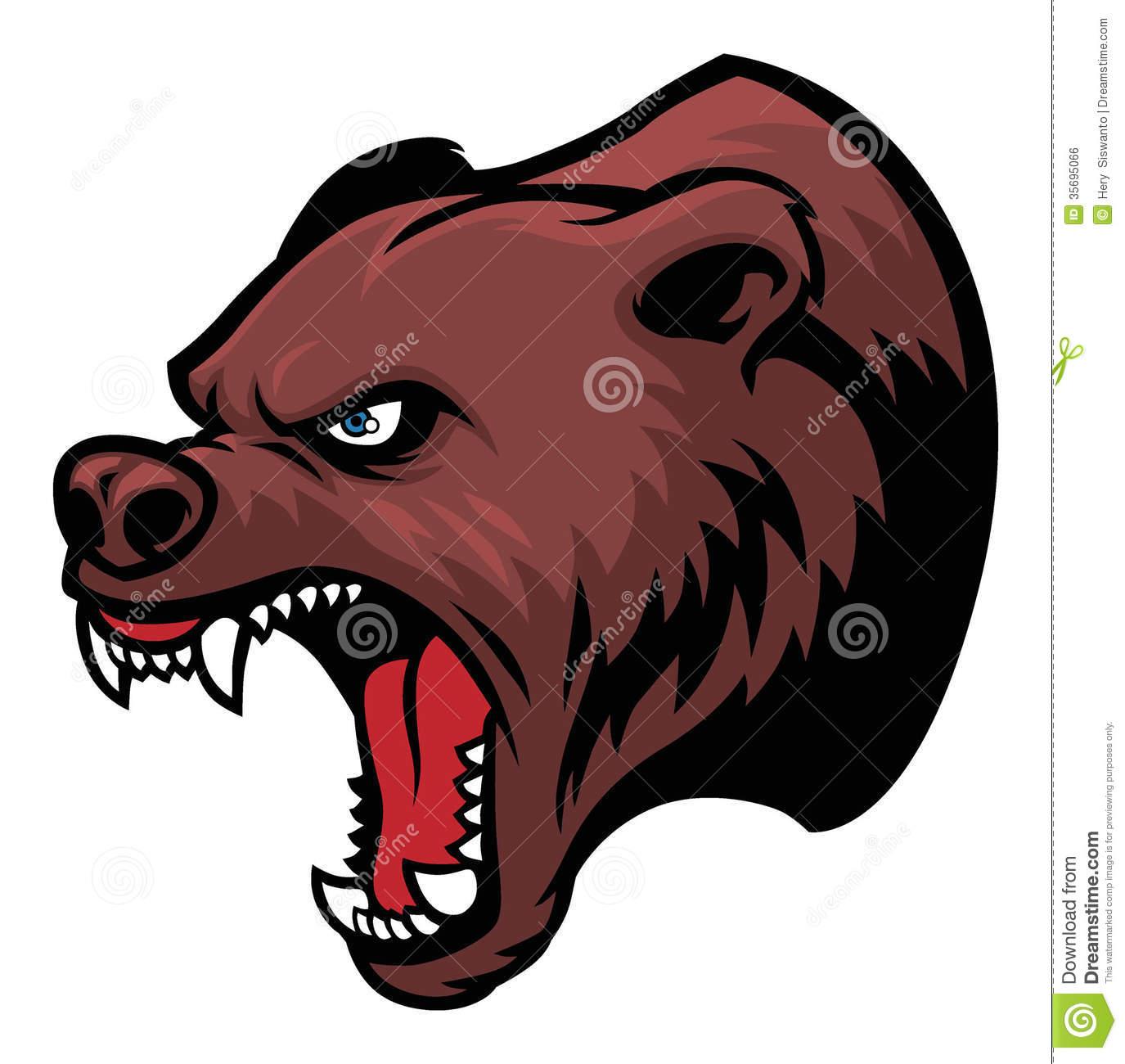 Angry momma bear clipart