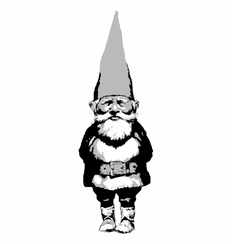 Angry bearded garden gnome clipart black and white picture transparent Gnome Cartoon Drawing | Free download best Gnome Cartoon Drawing on ... picture transparent