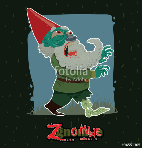 Angry bearded garden gnome clipart black and white svg free download Vector walking zgnombie. Cartoon image of a green walking garden ... svg free download