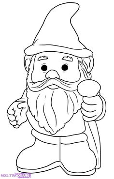Angry bearded garden gnome clipart black and white image freeuse library 177 Best Gnomes images in 2016 | Gnomes, Gnome garden, Gnome statues image freeuse library