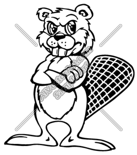 Angry beaver clipart clip art transparent Angry Beaver Crossing Arms Clipart and Vectorart: Sports Mascots ... clip art transparent