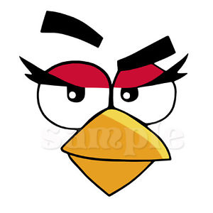 Angry birds face clipart clip art free Details about ANGRY BIRDS FACE IRON ON TRANSFER clip art free