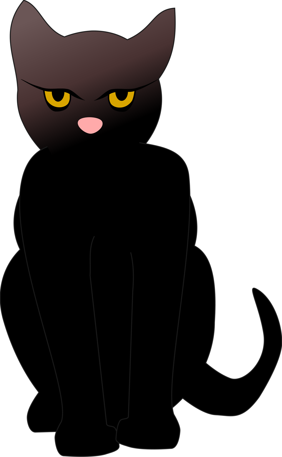 Cat Black | Free Stock Photo | Illustrated silhouette of a black cat ... banner free library