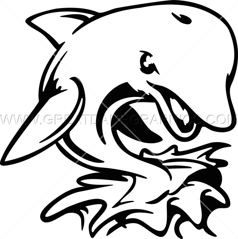 Dophin fish clipart. Angry dolphin production ready