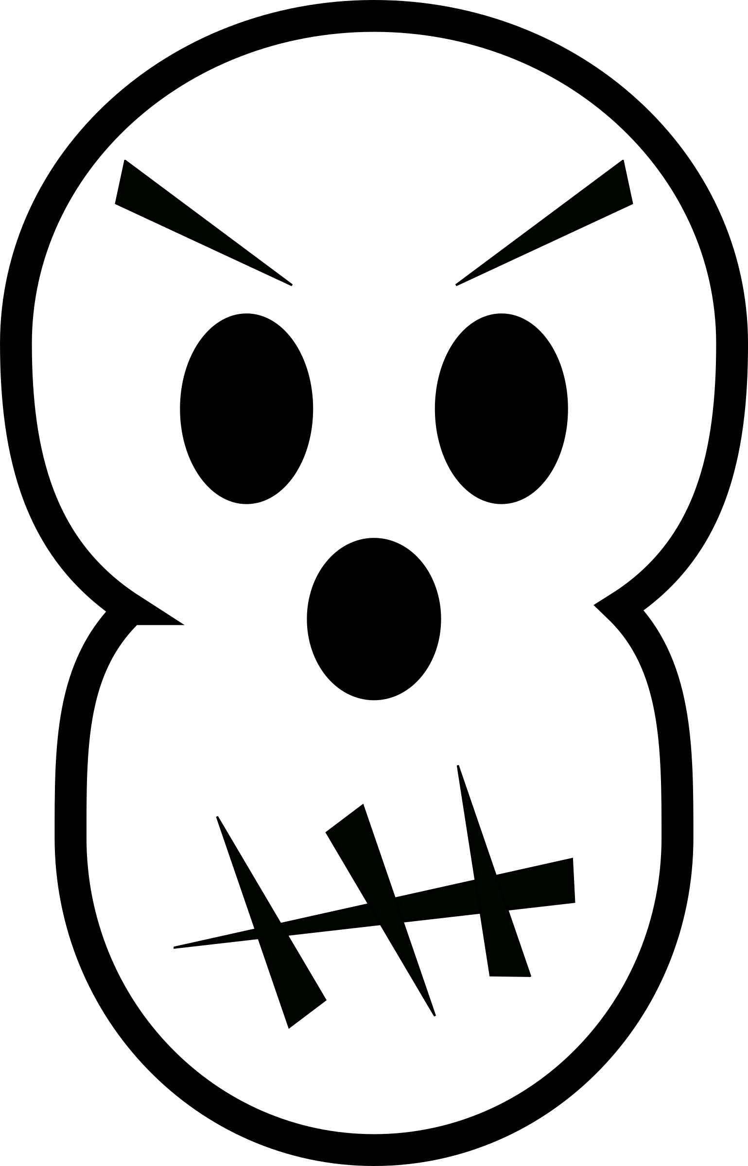 Angry book clipart picture black and white download Clipart - Angry skull picture black and white download