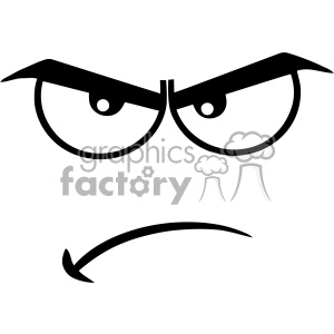 Angry cartoon faces clipart clip transparent stock 10909 Royalty Free RF Clipart Black And White Angry Cartoon Funny Face With  Grumpy Expression Vector Illustration clipart. Royalty-free clipart # ... clip transparent stock
