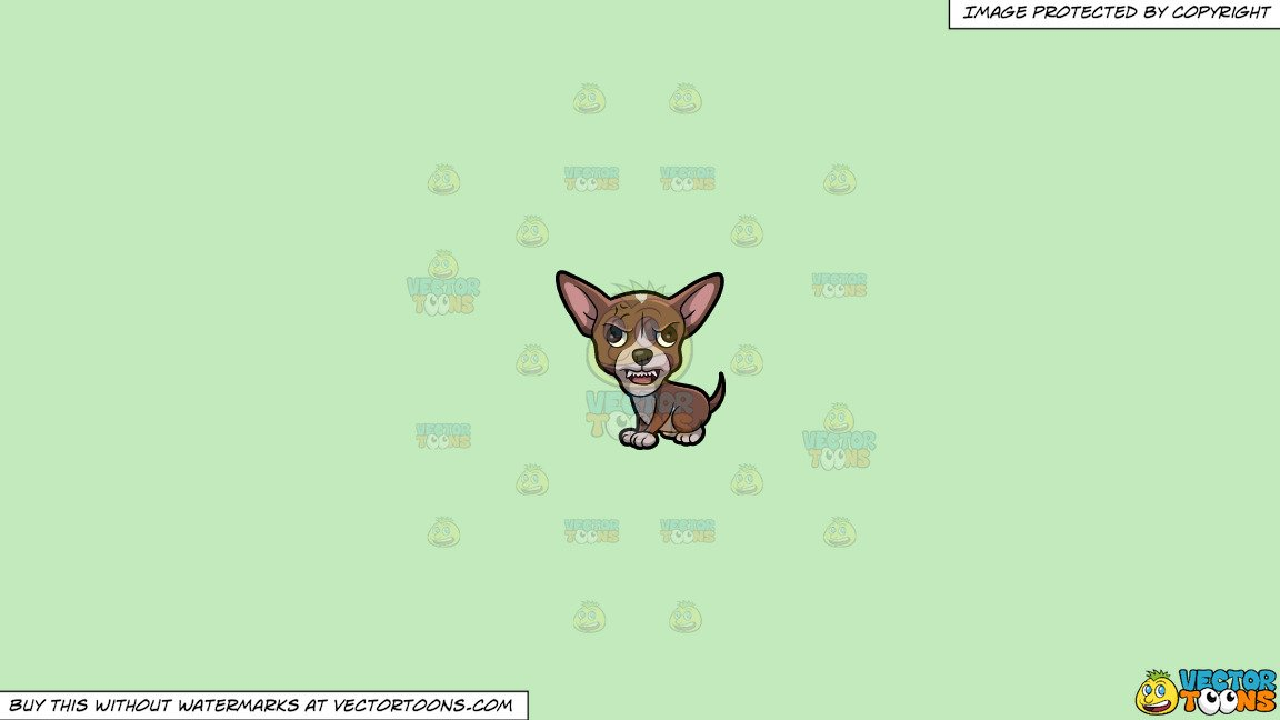 Angry chihuahua clipart png library stock Clipart: A Chihuahua Getting Angry And Mad on a Solid Tea Green C2Eabd  Background png library stock