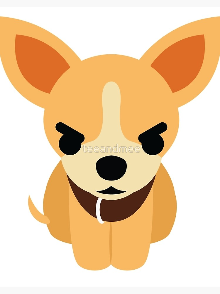 Angry chihuahua clipart clip art transparent library Chihuahua Emoji Angry and Mad Look | Art Board Print clip art transparent library