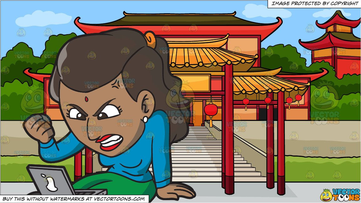 Angry chinese clipart svg transparent stock An Indian Woman Getting Angry While Surfing The Internet and A Chinese  Temple Background svg transparent stock