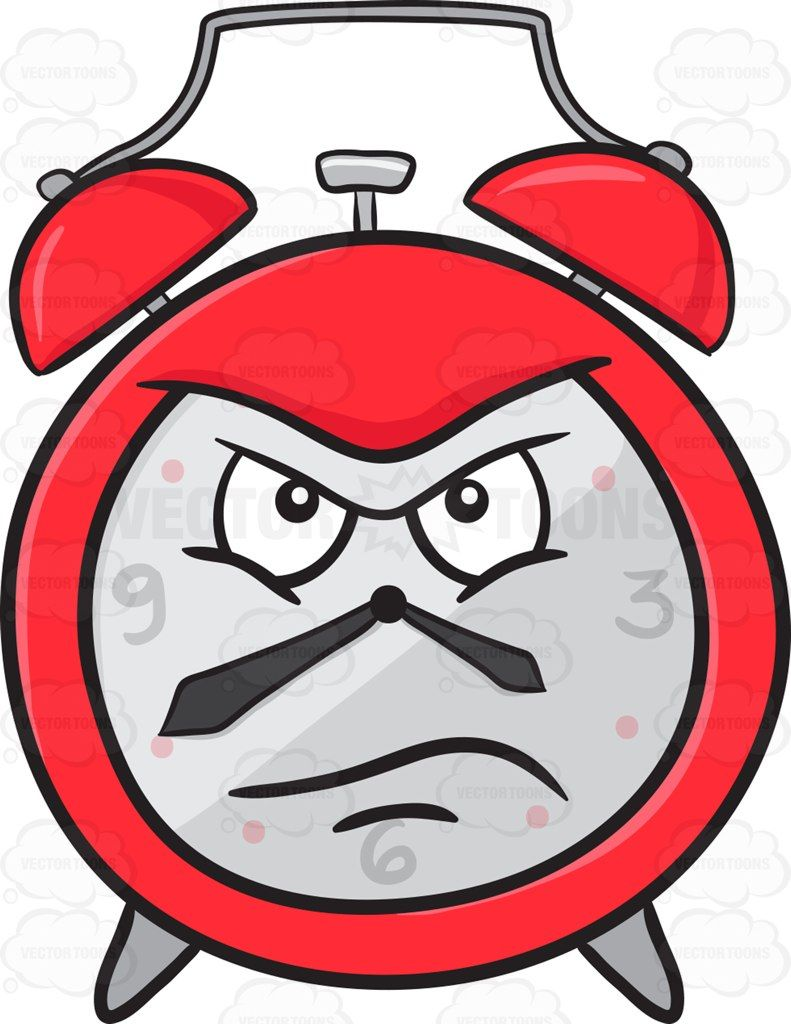 Angry clock clipart vector library stock Upset And Infuriated Alarm Clock Emoji #alarm #alarmclock #angered ... vector library stock