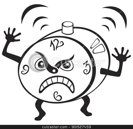 Angry clock clipart clip art free stock Alarm clock stock vector clip art free stock