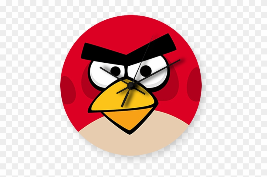 Angry clock clipart transparent Angry Bird Art Printed Wall Clock Clipart (#2928313) - PinClipart transparent