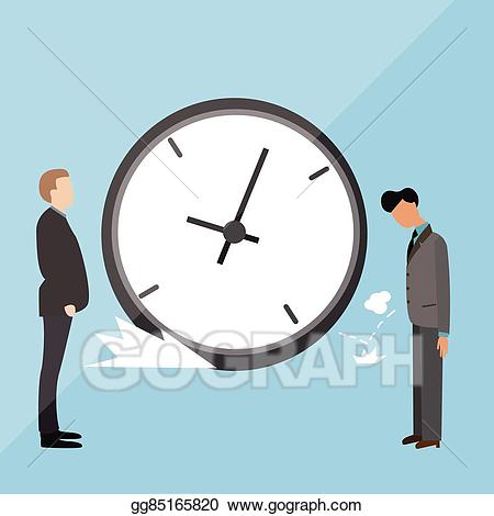 Angry clock clipart picture library library Vector Stock - Big clock late arrive at office boss angry blamed ... picture library library