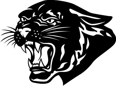 Panther face clipart tribal