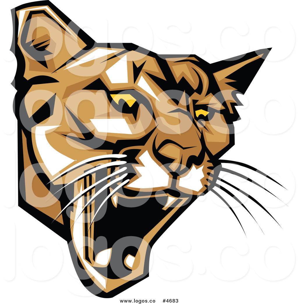 Angry cougar clipart hd jpg royalty free stock Royalty Free Clip Art Vector Logo of a Mad Puma Mascot Head by ... jpg royalty free stock