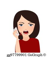 Angry customer clipart
