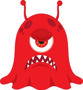 Angry cyclops clipart svg Alien clipart image angry cyclops monster or alien ready to attack ... svg