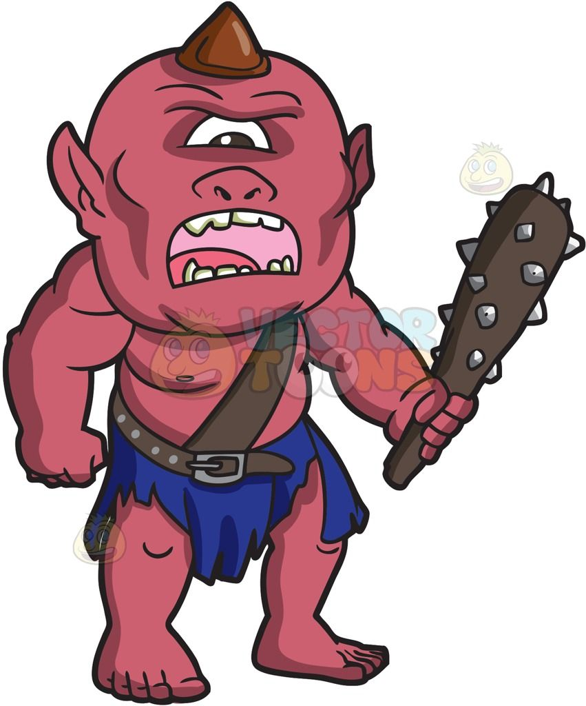 Angry cyclops clipart graphic transparent An angry looking Cyclops : A mythical creature with one eye old rose ... graphic transparent