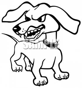 Angry dog pictures clipart graphic black and white Angry Dog | Clipart Panda - Free Clipart Images graphic black and white