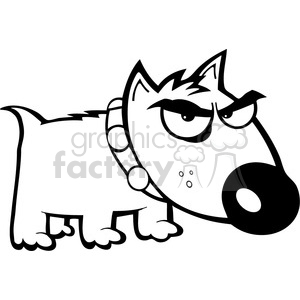 Angry dog pictures clipart banner stock black white angry dog clipart. Royalty-free clipart # 384343 banner stock