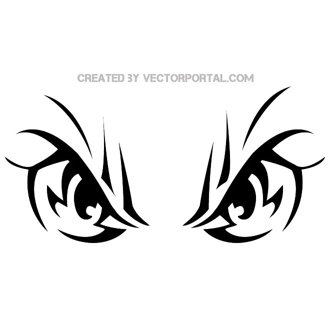 Blow pop clipart black and white vector png library download Angry Eyes Image Free Vector png library download