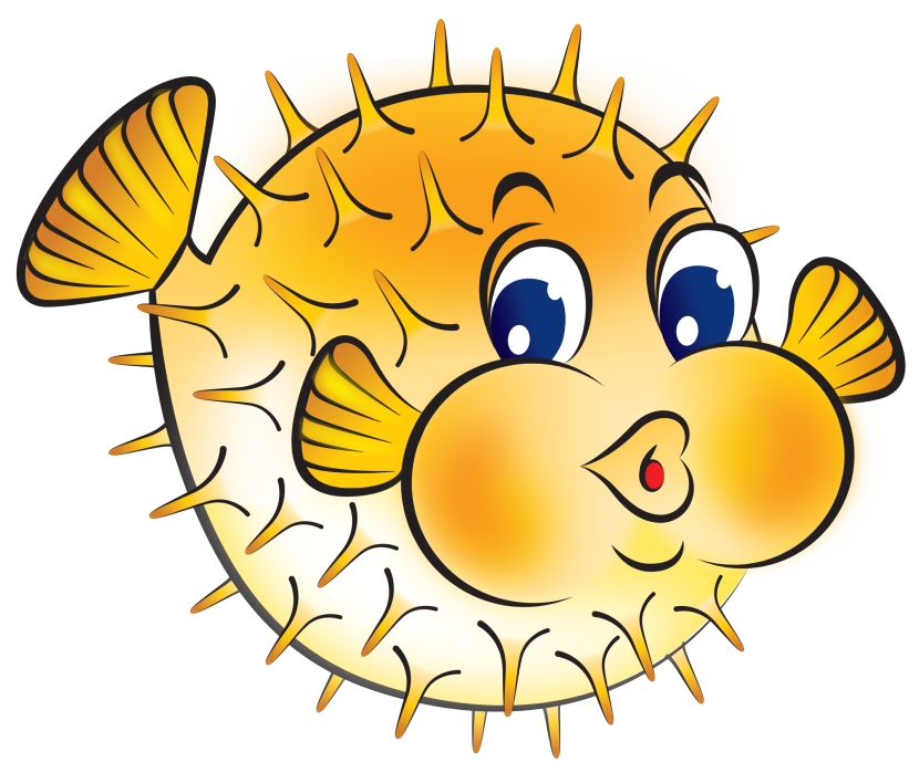 28+ Collection of Cute Puffer Fish Clipart | High quality, free ... jpg black and white