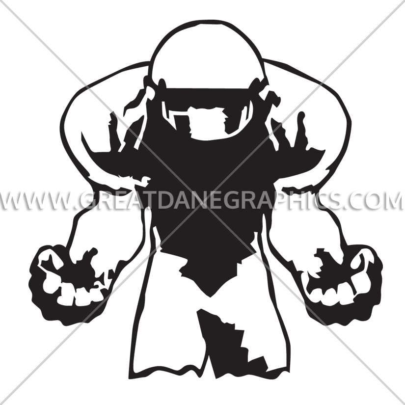 Angry football player clipart banner free Football Anger | Production Ready Artwork for T-Shirt Printing banner free