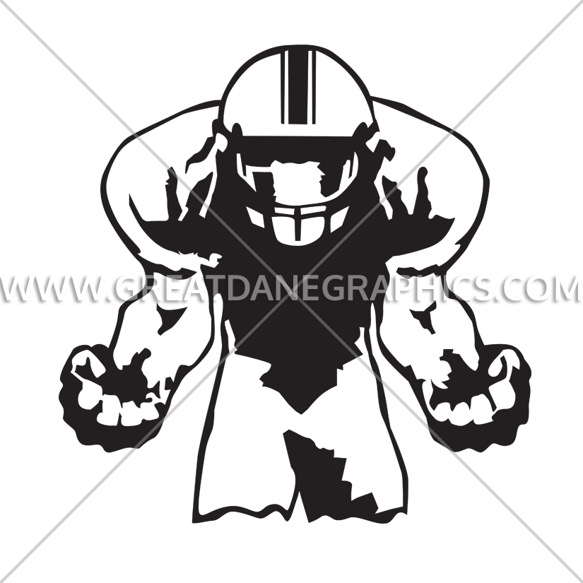Angry football player clipart svg free stock Football Anger | Production Ready Artwork for T-Shirt Printing svg free stock