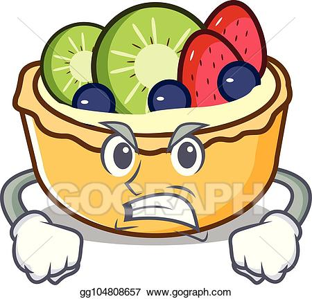 Angry fruits clipart png transparent library Vector Stock - Angry fruit tart mascot cartoon. Clipart Illustration ... png transparent library