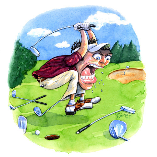 Angry golfer clipart freeuse stock Get Rid Of Golf Course Anger - Golf Tips Magazine freeuse stock