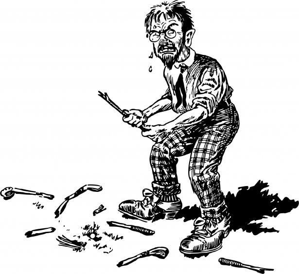Angry golfer clipart picture black and white library Angry Golf Man Free Stock Photo - Public Domain Pictures picture black and white library