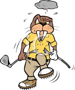 Angry golfer clipart svg freeuse library An Angry Walrus Breaking His Golf Club Clipart Picture svg freeuse library