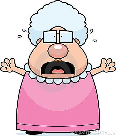 Angry grandma clipart