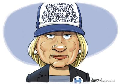 Angry hillary clinton clipart jpg freeuse library Hillary Clinton dons her own ball cap in R.J. Matson\'s latest ... jpg freeuse library