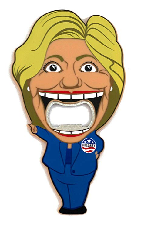 Angry hillary clinton clipart vector library Hillary Clinton Bottle Opener vector library