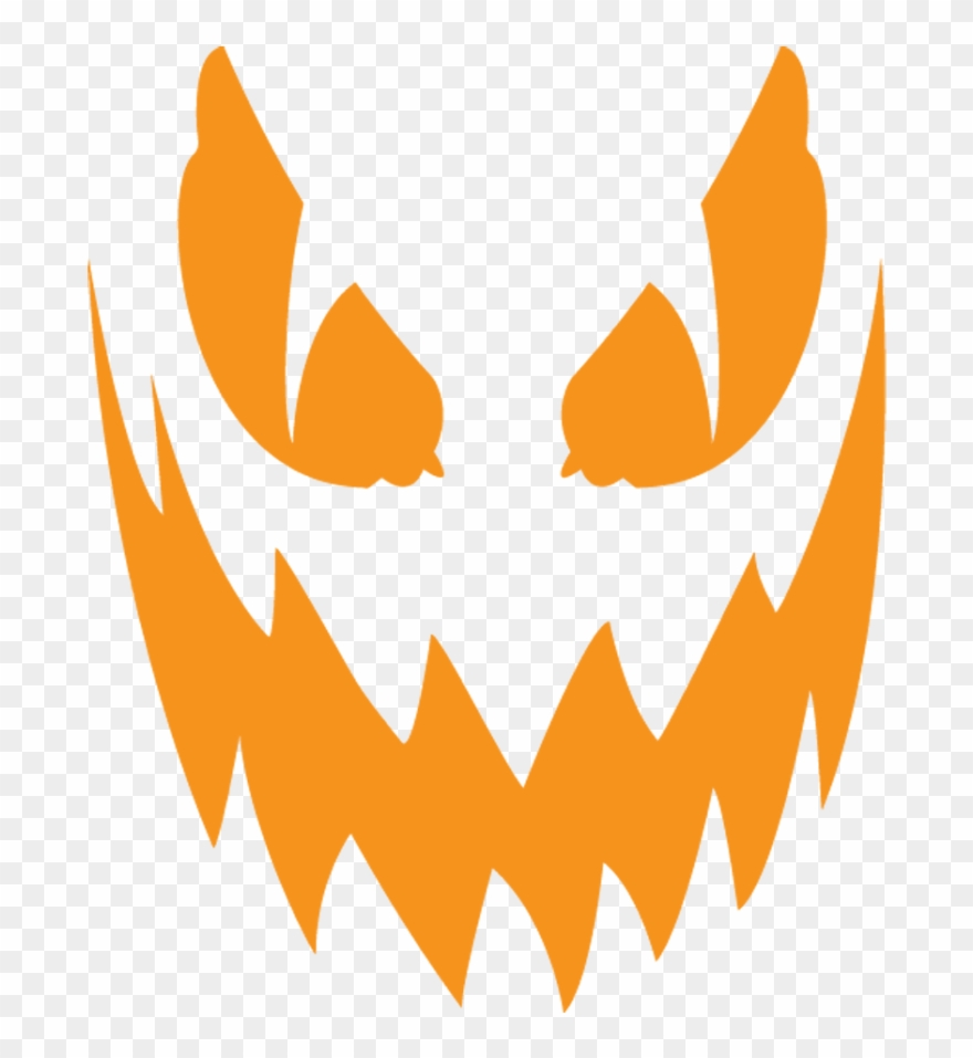 Angry jack face clipart clip freeuse Scary Clipart Easy - Jack O Lantern Face Png Transparent Png (#30219 ... clip freeuse