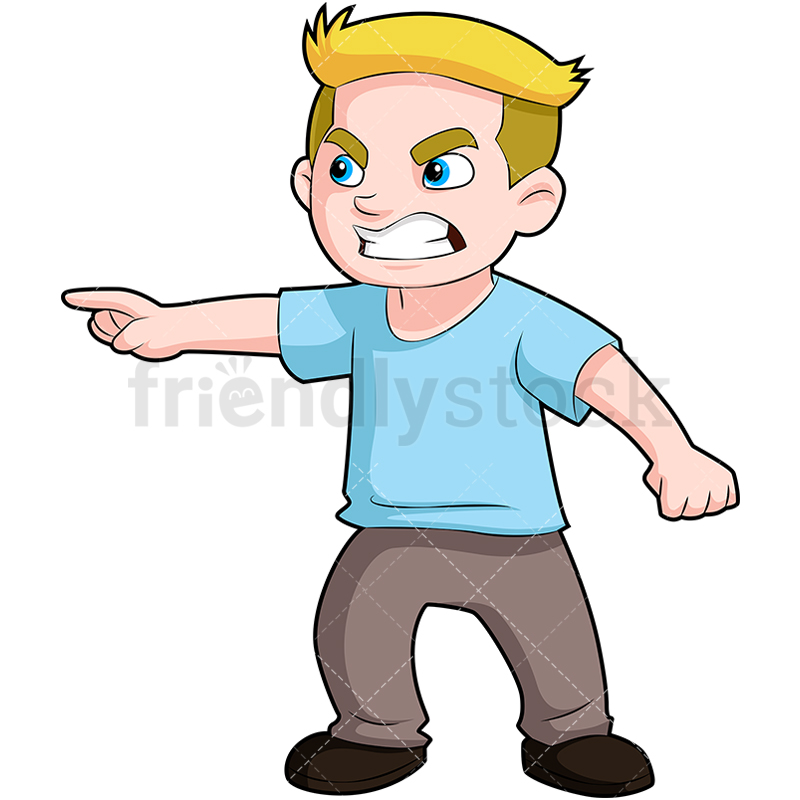 Mad boy clipart transparent stock Angry Boy Pointing Finger And Scowling Car #365460 - Clipartimage.com transparent stock