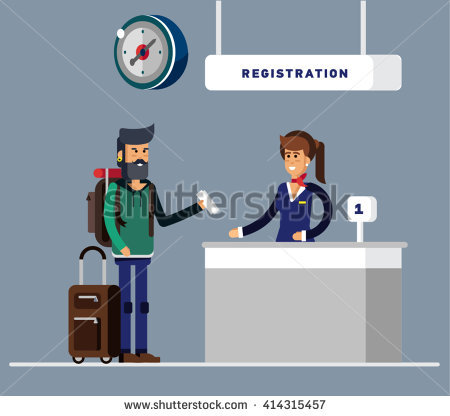 Angry man checks into airport clipart picture Airport Staff Stock Images, Royalty-Free Images & Vectors ... picture