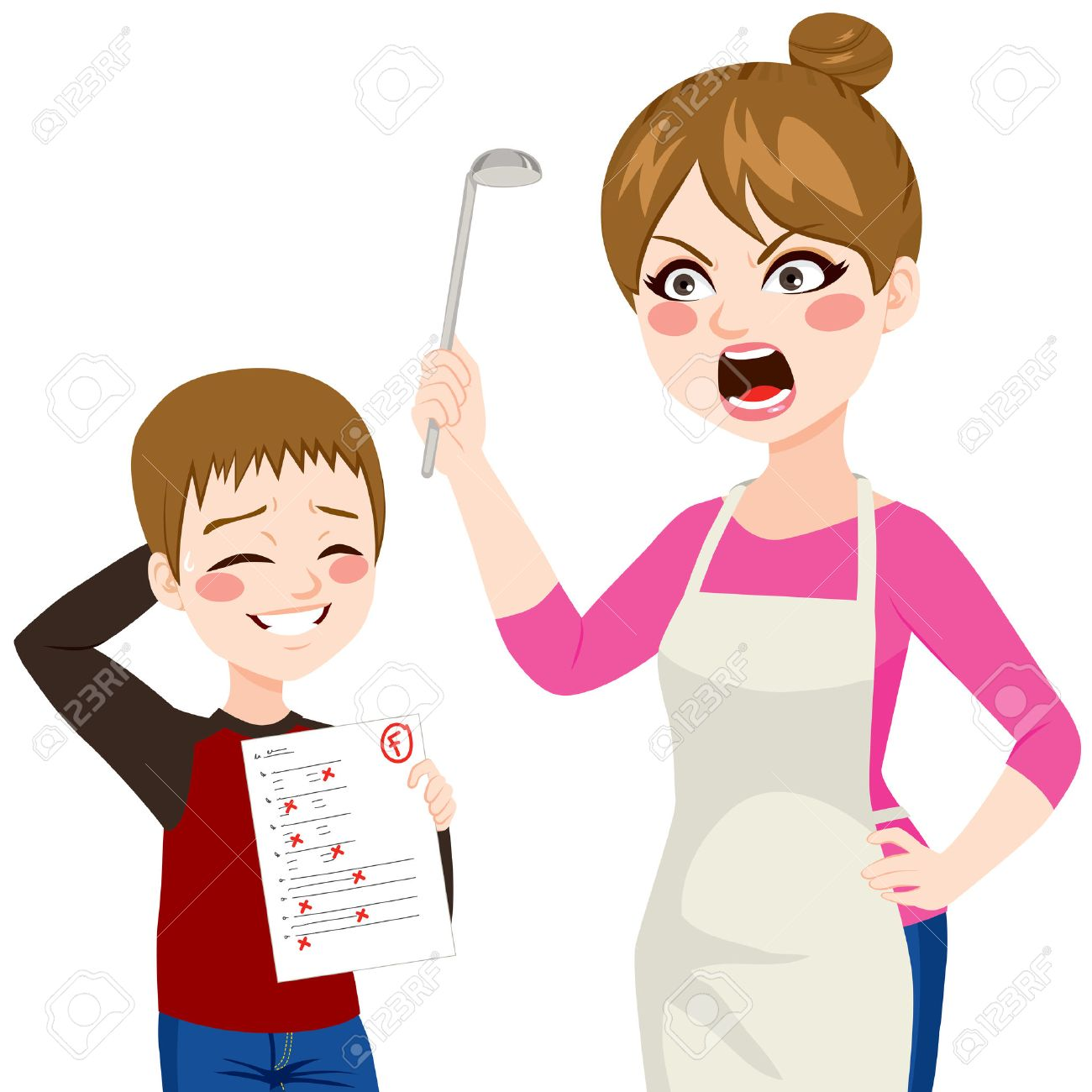 Angry mom clipart svg black and white Angry mom clipart 9 » Clipart Station svg black and white