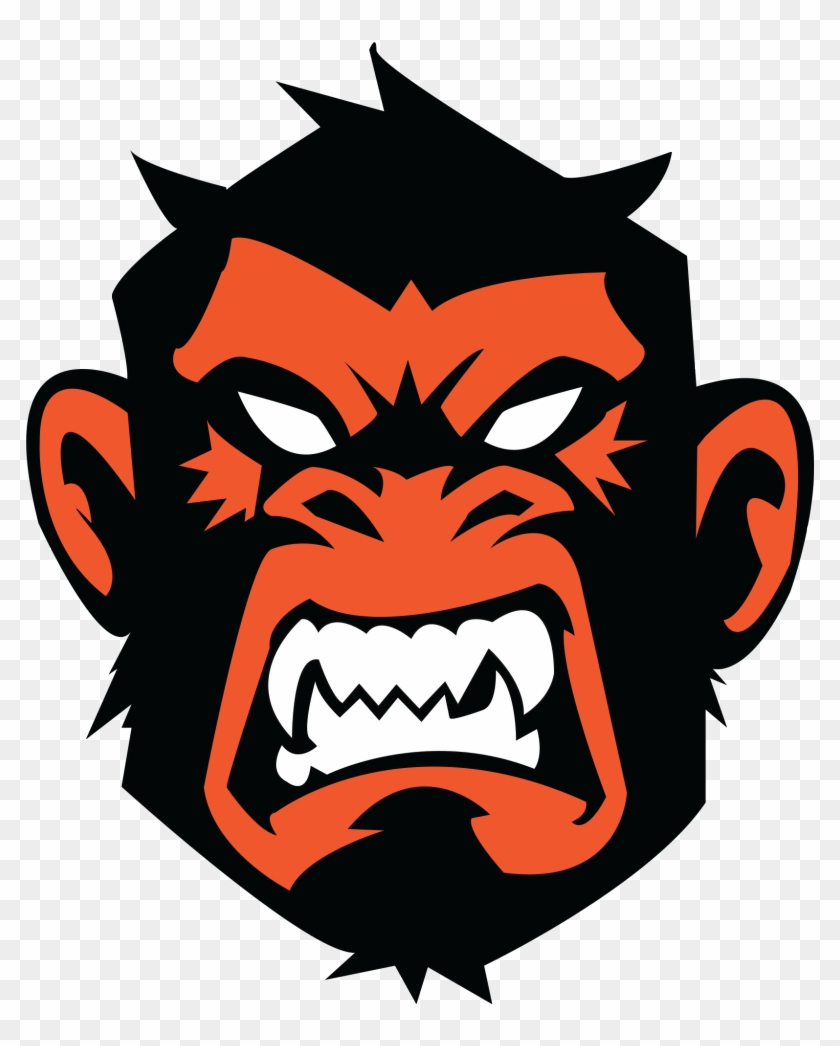 Angry monkey clipart jpg freeuse library Evil Monkeys Clan - Angry Monkey Logo Vector, HD Png Download ... jpg freeuse library